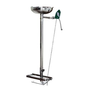 SAFETYWARE FULLY STAINLESS STEEL FLOOR MOUNTED EMERGENCY EYEWASH WITH FOOT PEDAL