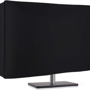 """Nonwoven Monitor Dust Cover for 27"""" 28"""" 29″ LED LCD Screens Flat Panel HD Display (Size: 28W x 18H x 4D) -Black"""